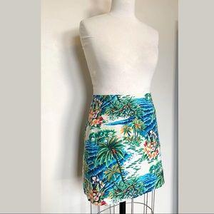 Vintage Hawaiian Print Island Skirt